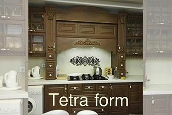 استفاده از شیشه رنگی در آشپزخانه - تترافرم