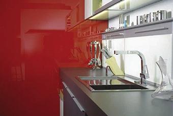 شیشه رنگی آشپزخانه - تترافرم