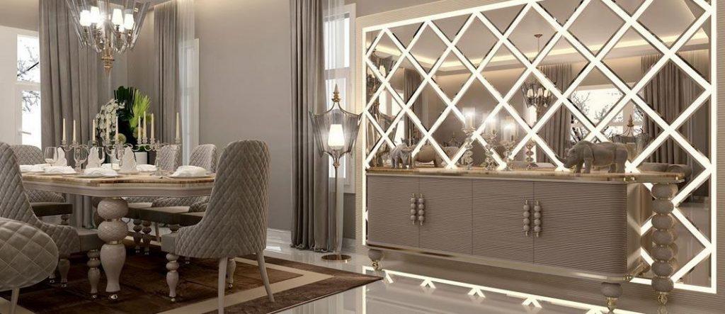 آینه کاری با نورپردازی