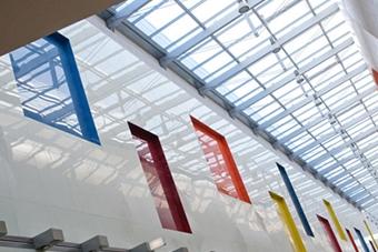 مدل شیشه رنگی دیوارپوش - تترافرم