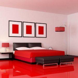 شیشه رنگی قرمز برای اتاق خواب - تترافرم