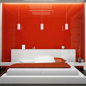 طراحی اتاق خواب با شیشه رنگی - تترافرم