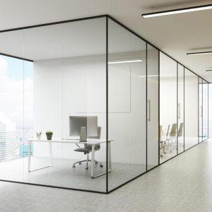 پارتیشن های شیشه ای فریم لس - تترافرم