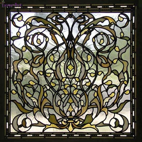 شیشه دکوراتیو سالن زیبایی - تترافرم