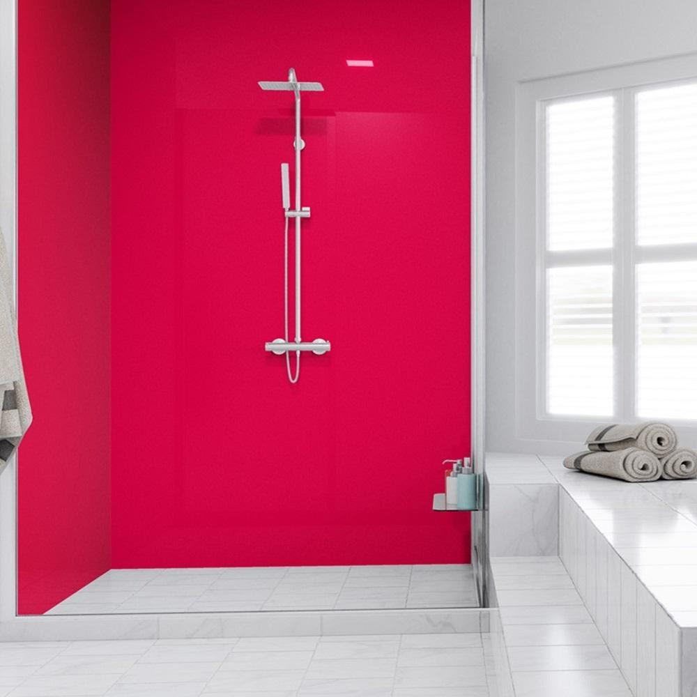 شیشه لاکوبل رنگی حمام - تترافرم