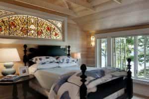 استفاده از شیشه رنگی در اتاق خواب - تترافرم