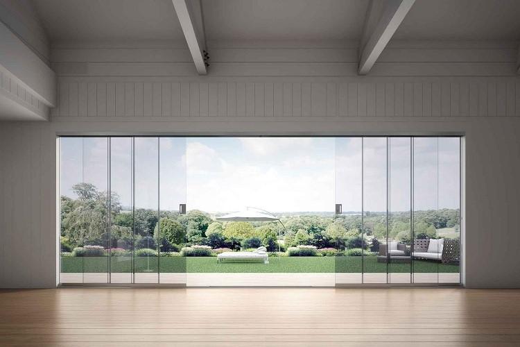نمای ساختمان با شیشه